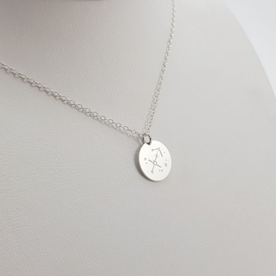Zodiac Constellation Necklace | Sterling silver | 13 x 13 mm