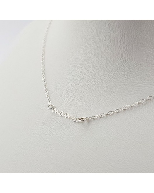 Silver Personalized Mama Necklace Gift for Mom | Sterling silver | 19,2 x 2,8 mm