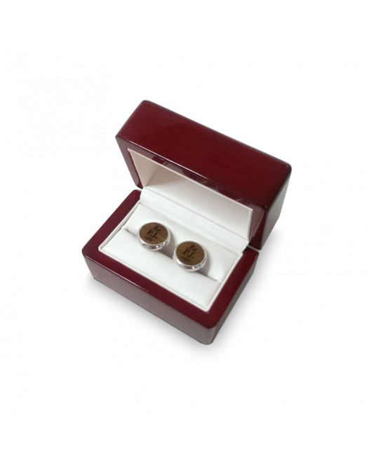 Luxury packaging for cufflinks with your dedication
