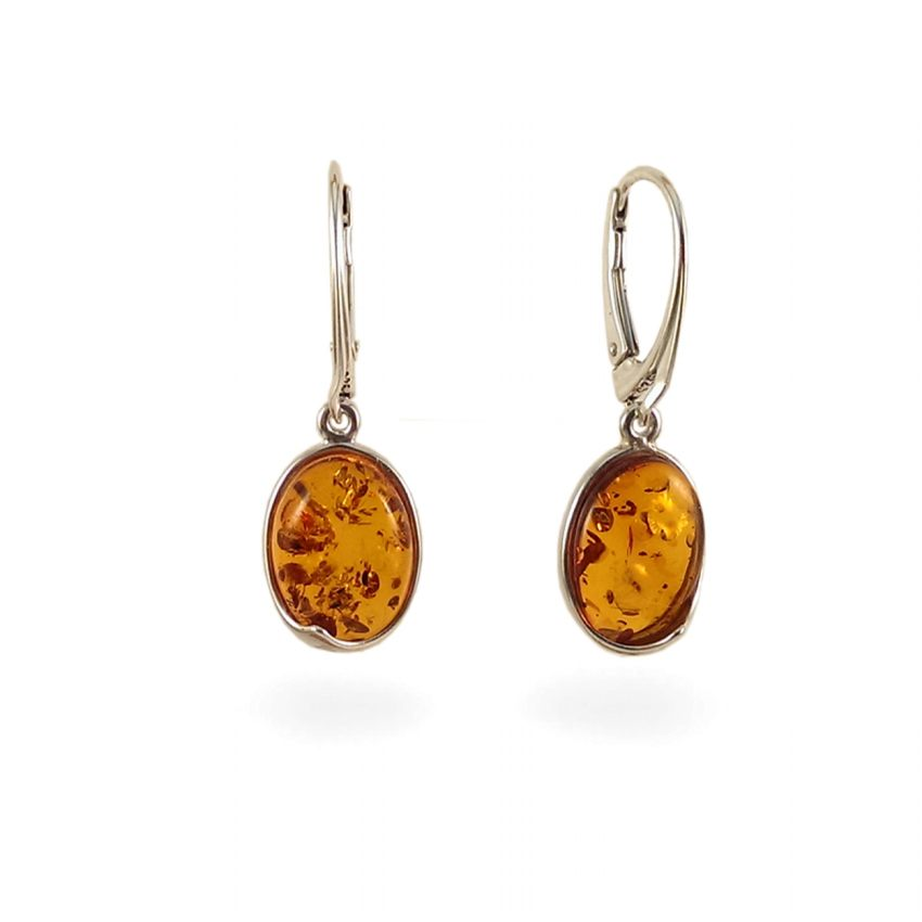 Amber Earrings | Sterling silver | Height - 33mm, Width - 11mm | Weight - 3,6g | ZD.1007