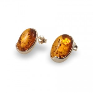 Amber Earrings | Sterling silver | Height - 15mm, Width - 11mm | Weight - 2,6g | ZD.1007S