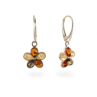 Amber Earrings | Sterling silver | Height - 33mm, Width - 15mm | Weight - 3,4g | ZD.1108
