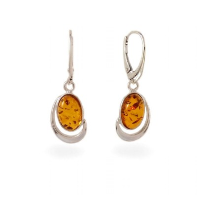 Amber Earrings | Sterling silver | Height - 36mm, Width - 13mm | Weight - 4,3g | ZD.1017