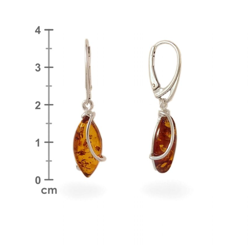 Amber Earrings | Sterling silver | Height - 38mm, Width - 9mm | Weight - 3,5g | ZD.1030