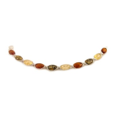 Amber bracelet | Sterling silver | Length - 187 to 190mm, Width - 8mm | Weight - 11,3g | ZD.1037M