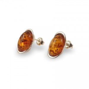 Amber Earrings | Sterling silver | Height - 14mm, Width - 8mm | Weight - 2,7g | ZD.1034