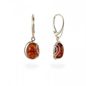 Amber Earrings | Sterling silver | Height - 33mm, Width - 12mm | Weight - 3,5g | ZD.1050