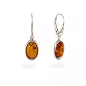 Amber Earrings | Sterling silver | Height - 35mm, Width - 10mm | Weight - 4g | ZD.1070