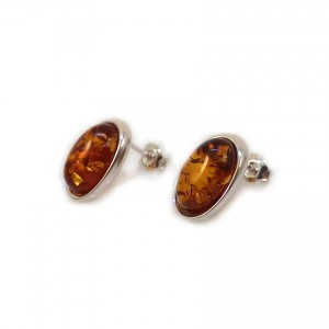 Amber Earrings | Sterling silver | Height - 16mm, Width - 10mm | Weight - 2,7g | ZD.1070