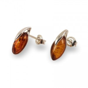 Amber Earrings | Sterling silver | Height - 15mm, Width - 6mm | Weight - 1,5g | ZD.1093