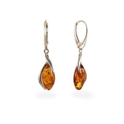 Amber Earrings | Sterling silver | Height - 40mm, Width - 10mm | Weight - 3,7g | ZD.1095