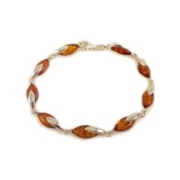 Amber bracelet | Sterling silver | Length - 195mm, Width - 6mm | Weight - 7.9g | ZD.1099