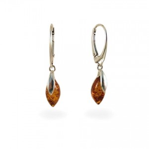 Amber Earrings | Sterling silver | Height - 35mm, Width - 6mm | Weight - 2,6g | ZD.1099