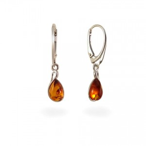 Amber Earrings | Sterling silver | Height - 31mm, Width - 7mm | Weight - 2,4g | ZD1113