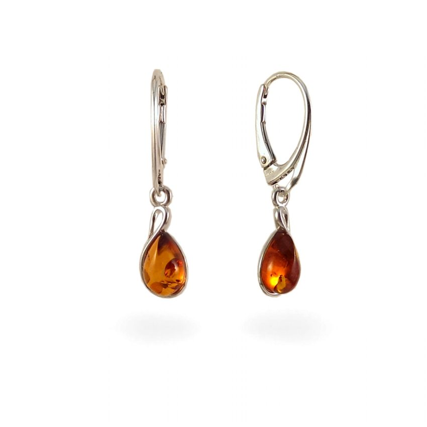 Amber Earrings Sterling Silver Height 31mm Width 7mm Weight