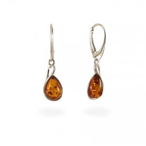 Amber Earrings | Sterling silver | Height - 36mm, Width - 10mm | Weight - 3,7g | ZD1113L