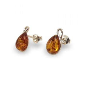 Amber Earrings | Sterling silver | Height - 18mm, Width - 7mm | Weight - 1,5g | ZD.1113S