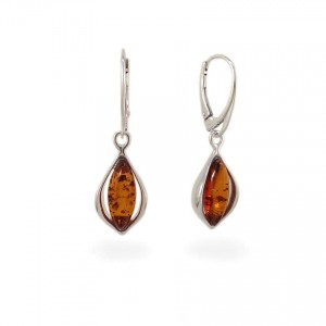 Amber Earrings | Sterling silver | Height - 37mm, Width - 11mm | Weight - 4g | ZD.1116
