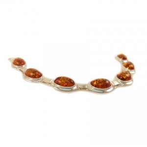 Amber bracelet | Sterling silver | Length - 188mm, Width - 14mm | Weight - 14,4g | ZD.318
