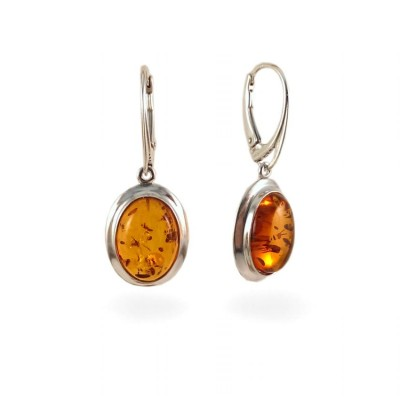 Amber Earrings | Sterling silver | Height - 36mm, Width - 14mm | Weight - 4,4g | ZD.317