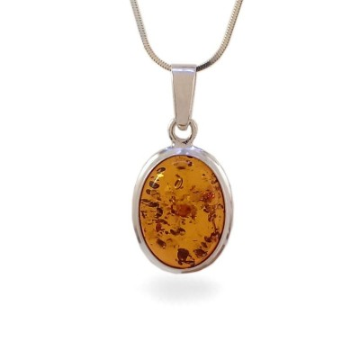 Amber pendant | Sterling silver | Height - 30mm, Width - 15mm | Weight - 2,5g | ZD.148