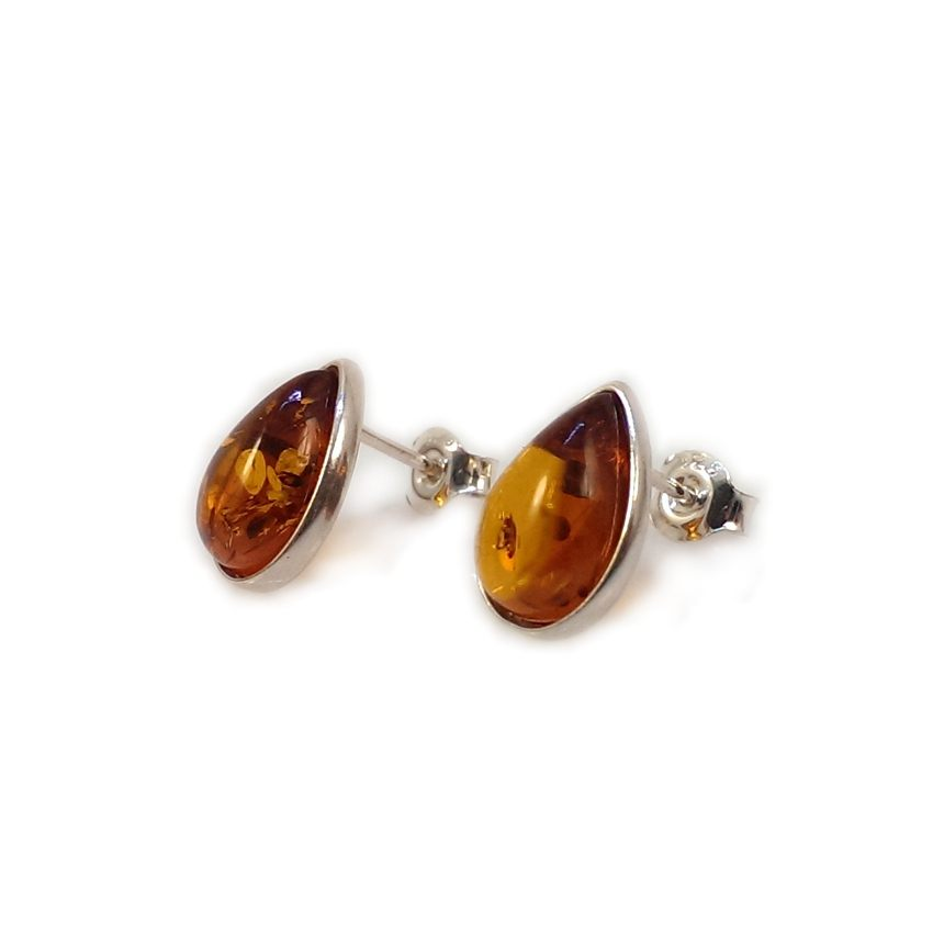 Amber Earrings | Sterling silver | Height - 13mm, Width - 9mm | Weight - 1,8g | ZD.683