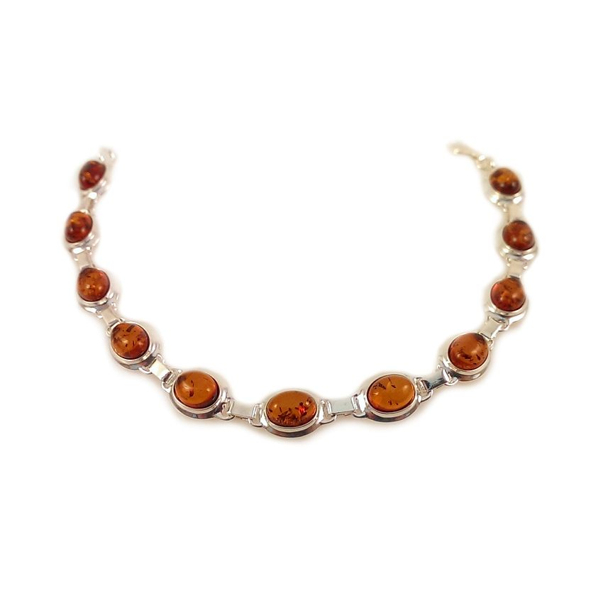 Amber bracelet | Sterling silver | Length - 193mm, Width - 9mm | Weight - 10,1g | ZD.320