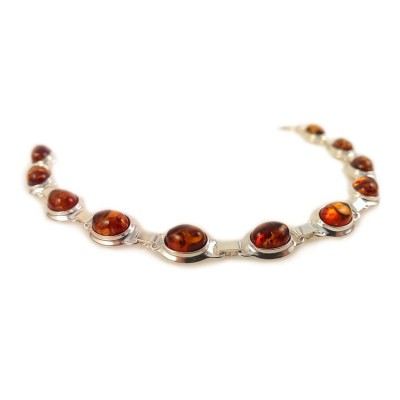 Amber bracelet | Sterling silver | Length - 193 to 196mm, Width - 9mm | Weight - 10,1g | ZD.320