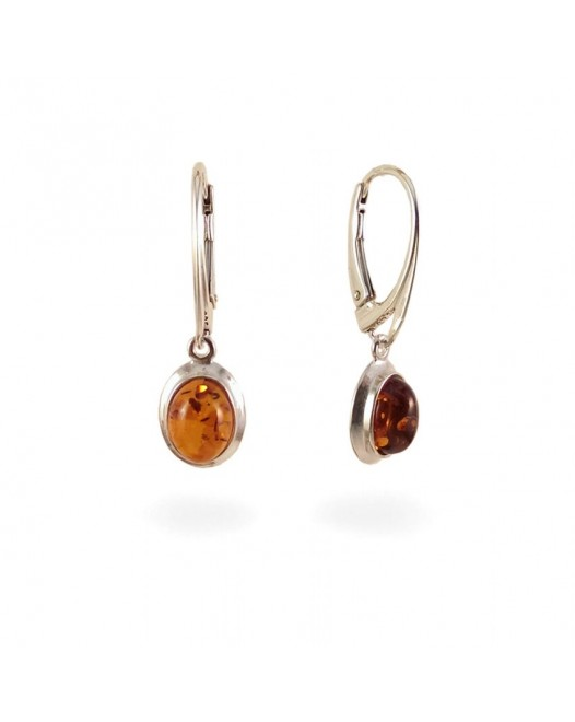 Amber Earrings | Sterling silver | Height - 29mm, Width - 9mm | Weight - 2,5g | ZD.317
