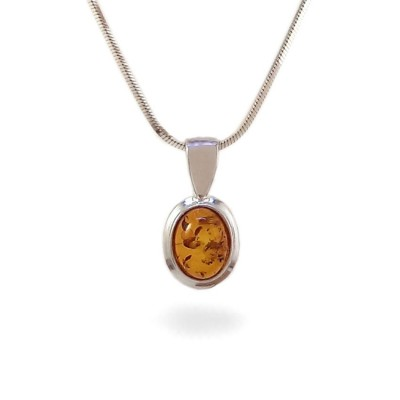 Amber pendant | Sterling silver | Height - 17mm, Width - 9mm | Weight - 0,9g | ZD.359