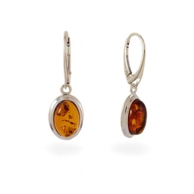 Amber Earrings | Sterling silver | Height - 33mm, Width - 11mm | Weight - 3,5g | ZD.829