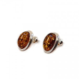 Amber Earrings | Sterling silver | Height - 15mm, Width - 11mm | Weight - 2,7g | ZD.829