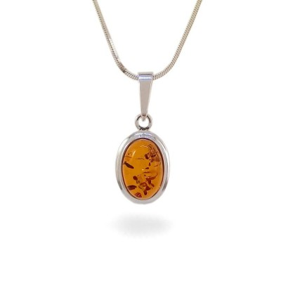 Amber pendant   Sterling silver   Height - 25mm, Width - 11mm   Weight - 1,5g   ZD.829