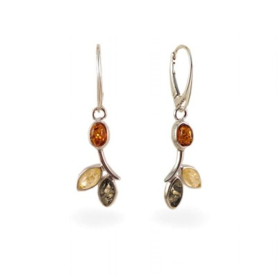 Amber Earrings | Sterling silver | Height - 43mm, Width - 12mm | Weight - 4g | ZD.839