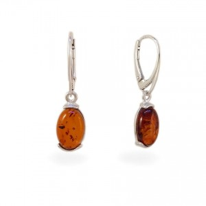Amber Earrings | Sterling silver | Height - 33mm, Width - 8mm | Weight - 2,7g | ZD.978