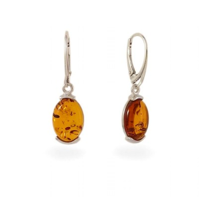 Amber Earrings | Sterling silver | Height - 35mm, Width - 10mm | Weight - 3,5g | ZD.979