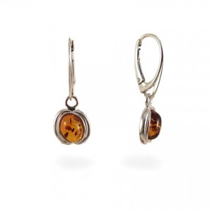 Amber Earrings | Sterling silver | Height - 29mm, Width - 10mm | Weight - 3g | ZD.997