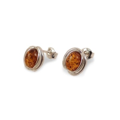 Amber Earrings | Sterling silver | Height - 14mm, Width - 10mm | Weight - 2,1g | ZD.995