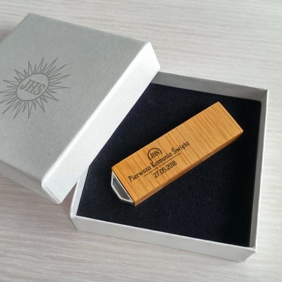 Personalized usb First communion favors | Bamboo 16~128GB USB 3.0