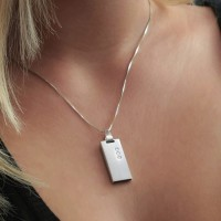Swarovski USB necklace | Crystal 8~64GB USB 2.0 | Sterling silver | 925 silver chain 45cm