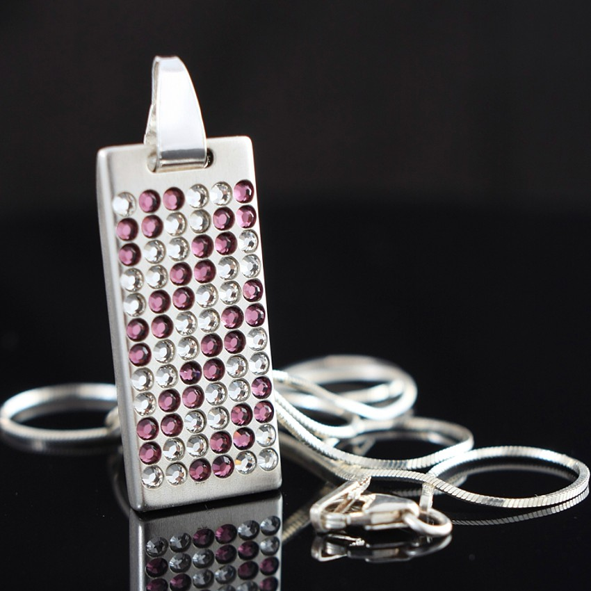 Swarovski USB necklace | Desire 8~64GB USB 2.0 | Sterling silver | 925 silver chain 45cm