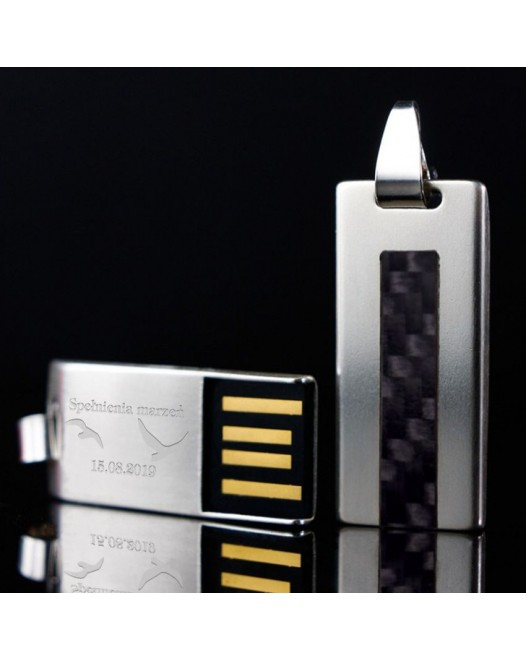 Carbon USB | Carbon 16GB USB 2.0 | Sterling Silver | Carbon Fibre