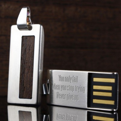 Silver custom USB | Wenge II 16GB USB 2.0 | Sterling Silver | Wenge wood