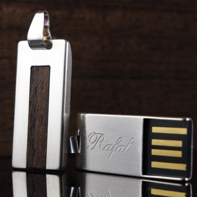 Silver custom USB | Wenge 32GB USB 2.0 | Sterling Silver | Wenge wood
