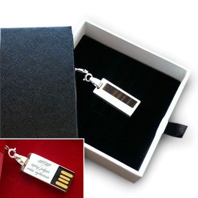 Silver custom USB | Teak II 32GB USB 2.0 | Sterling Silver | Teak wood