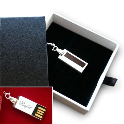 Silver custom USB | Wenge II 32GB USB 2.0 | Sterling Silver | Wenge wood