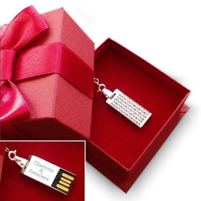 Swarovski USB necklace | Emotion 32GB USB 2.0 | Sterling silver | 925 silver chain 45cm
