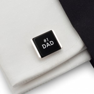Engraved cufflinks | Gift Ideas for Dad | Available in different languages | Sterling silver | Onyx | ZD.81