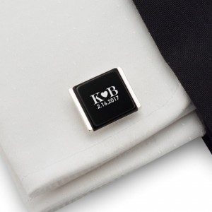Custom cufflinks | Gift idea for Men | Sterling sillver | Onyx | ZD.82