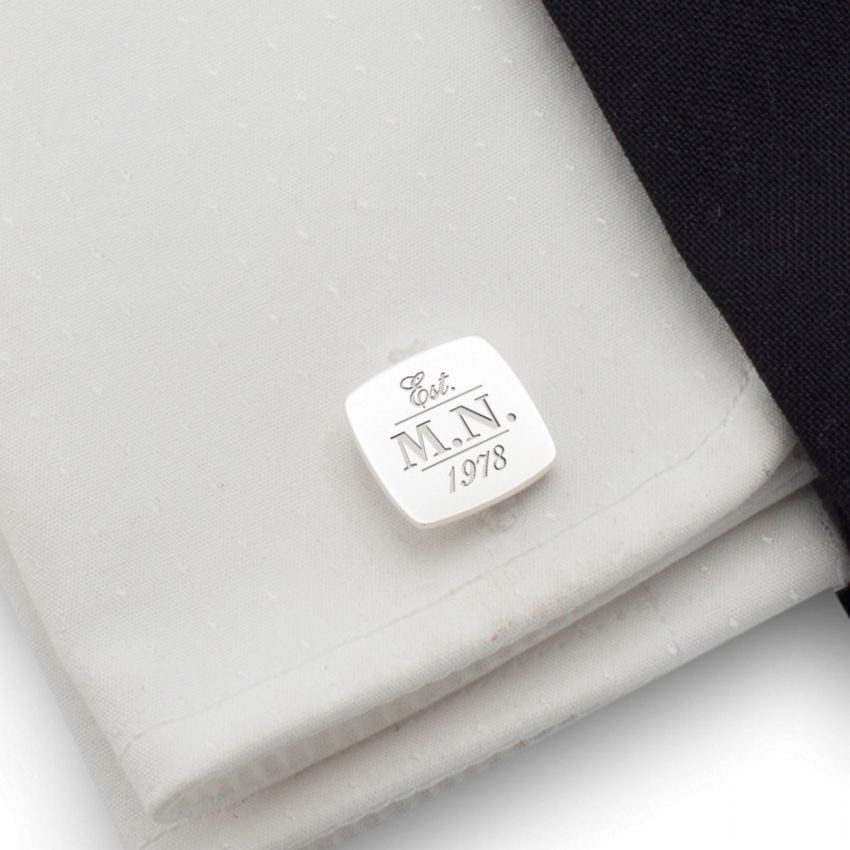Your or birthday initials cufflinks | Sterling silver | ZD.39